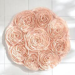 Fleur de Chic Round Bath Rug, PINK