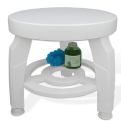 Swivel Shower Stool, WHITE