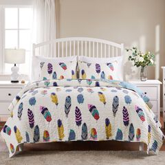 Dream Catcher Quilt Set , TEAL