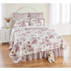 Frances 6-Pc. Quilt Set, RED WHITE