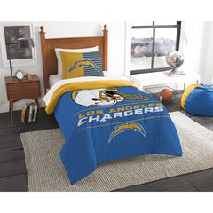 TWIN COMFORTER SET DRAFT-LA CHARGERS, MULTI