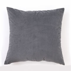 Solid Ribbed Toss Pillow, GRAY