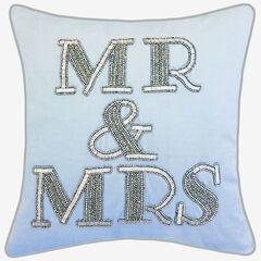 """Beaded """"Mr & Mrs"""", BLUE"""
