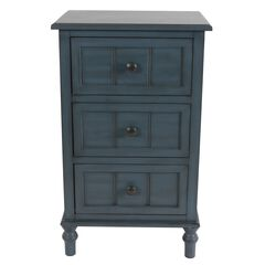 Antique Navy 3-Drawer Chest , NAVY