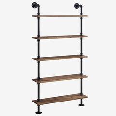 Anacortes Five Shelf Piping, BLACK