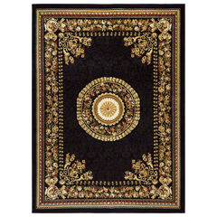 "Optimum Rug, 5'2""x7'2"", BLACK"