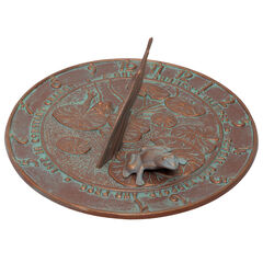 Frog Sundial, COPPER VERDI