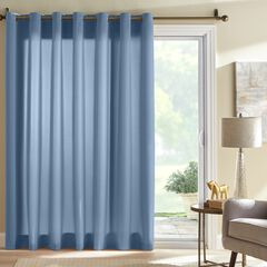 BH Studio Room-Darkening Patio Door Curtain, SMOKE BLUE