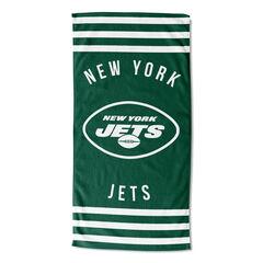 Jets Stripes Beach Towel, MULTI