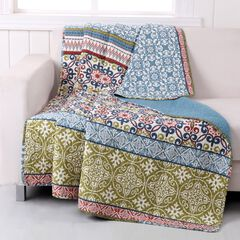 Greenland Home Fashions Shangri-La Quilted Throw Blanket, MULTI