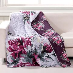 Greenland Home Fashions Rose Touch Quilted Throw Blanket, MULTI