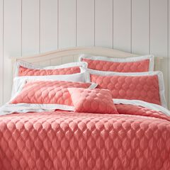 Nantucket Quilted Sham, SOFT CORAL