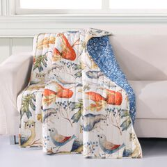 Barefoot Bungalow Willow Quilted Throw Blanket, MULTI