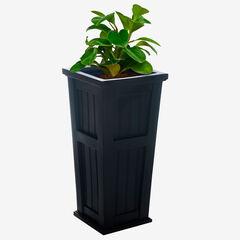 Mayne® Cape Cod Tall Planter, BLACK