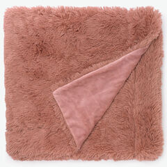 Lola Shaggy Throw, DUSTY PINK