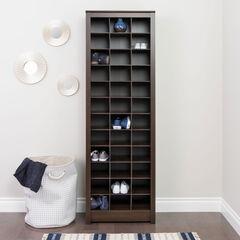 Space-Saving Shoe Storage Cabinet, ESPRESSO