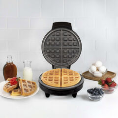 Kalorik Belgian Waffle Maker, Black and Stainless Steel, BLACK