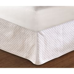 """Greenland Home Fashions Diamond Quilted Bed Skirt 18"""", WHITE"""