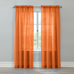 BH Studio Savannah Rod-Pocket Panel, TANGERINE