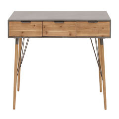 Brown Modern Wood Console Table, 30 x 48, WHITE