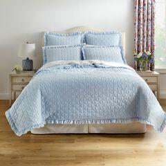 Serena Washed Microfiber Quilt, POWDER BLUE
