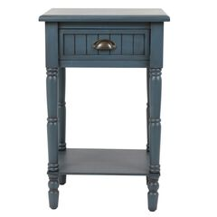 Beadboard Antique Accent Table, NAVY