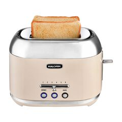 Kalorik 2-Slice Retro Toaster, CREAM