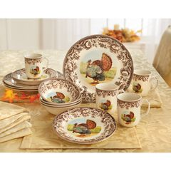 16-Pc. Turkey Dinnerware Set, MULTI
