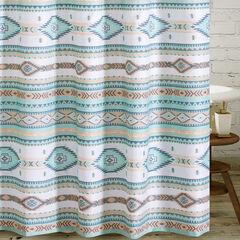 Phoenix Turquoise Bath Shower Curtain, TURQUOISE