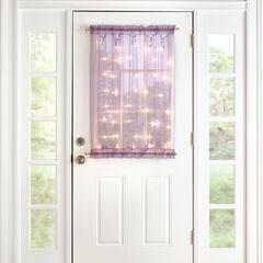 """40"""" Pre-Lit Door Panel, PURPLE"""