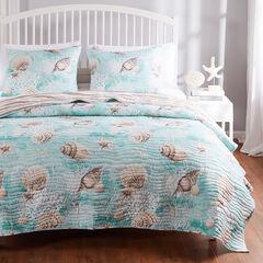 Ocean Turquoise Quilt Set, TURQUOISE