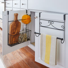 Inside Cabinet Over-the-Door Rack, BLACK