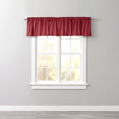 BH Studio Cotton Canvas Rod-Pocket Valance, BURGUNDY