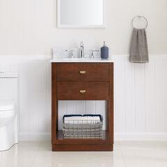 Lellerman Italian Marble Bath Vanity Sink, BROWN