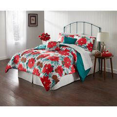 Poinsettia Holiday 5-Pc. Comforter Set,