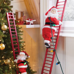 Mr. Christmas Animated Musical Climbing Santa, LARGE