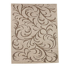 Large Winding Vines High-Low Rug , IVORY