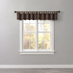Bamboo Tab-Top Valance, MAHOGANY BROWN