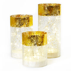 Gold Rimmed Hurricanes, Set of 3, GOLD