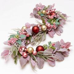 Blush Christmas Garland, PINK MULTI
