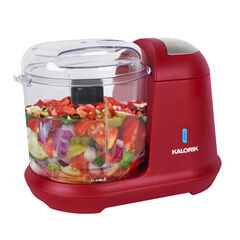 Kalorik 1.5 Cup Cordless Electric Food Chopper, Red, RED