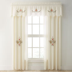 Ava Embroidered Valance, IVORY