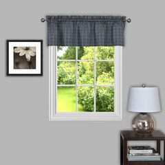 "Sydney 58"" x 14"" Window Curtain Valance, GREY"