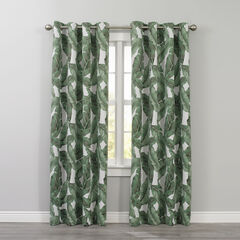 Printed Blackout Grommet Panel, BANANA LEAF
