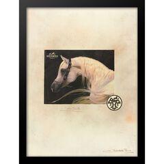 Hermes Horse 14x18 Framed Print, TAN