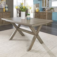 Mountain Lodge Rectangular Trestle Dining Table , MULTI GRAY