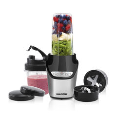 Kalorik 8-Piece Nutrition Blender Set, Black and Silver, BLACK