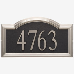 Design-it 4 Arch Plaque , BRUSHED NICKEL