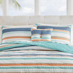 "Coastal Stripe 16""Sq. Pillow, AQUA MULTI STRIPE"