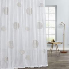 Capri Crochet Tab-Top Panel, WHITE